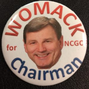 Womack for NCGOP Chairman Button - Style 1